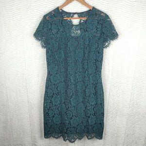 Banana Republic Green Lace Dress Size 12